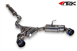 "2013 2014 Scion FR-S / Subaru BRZ 2.5"" GRiP Catback Exhaust System w/ Burnt Tips #SM1202-0213G by ARK Performance"
