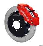 2013 Scion FR-S / Subaru W6A Big Brake Front Brake Kit (6 piston, slotted, red calipers) #140-12870-R by Wilwood
