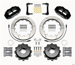 2013 Scion FR-S / Subaru Forged Narrow Superlite 4R Big Brake Rear Brake Kit (4 piston, slotted, black calipers) #140-12871 by Wilwood
