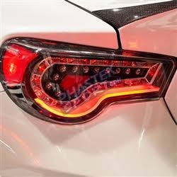 2013 2014 Scion FRS / Subaru LED Tail Lights - Black with Clear Lens by Winjet
